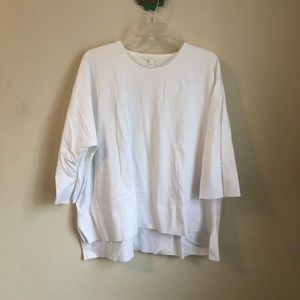 COS • white oversized boxy dolman sleeve top